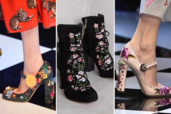 baskılı ayakkabılar